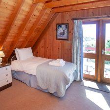 Open plan bedroom