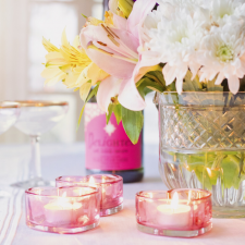 pic: Table with flowers and candles