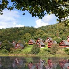 Lodges overlooking the loch