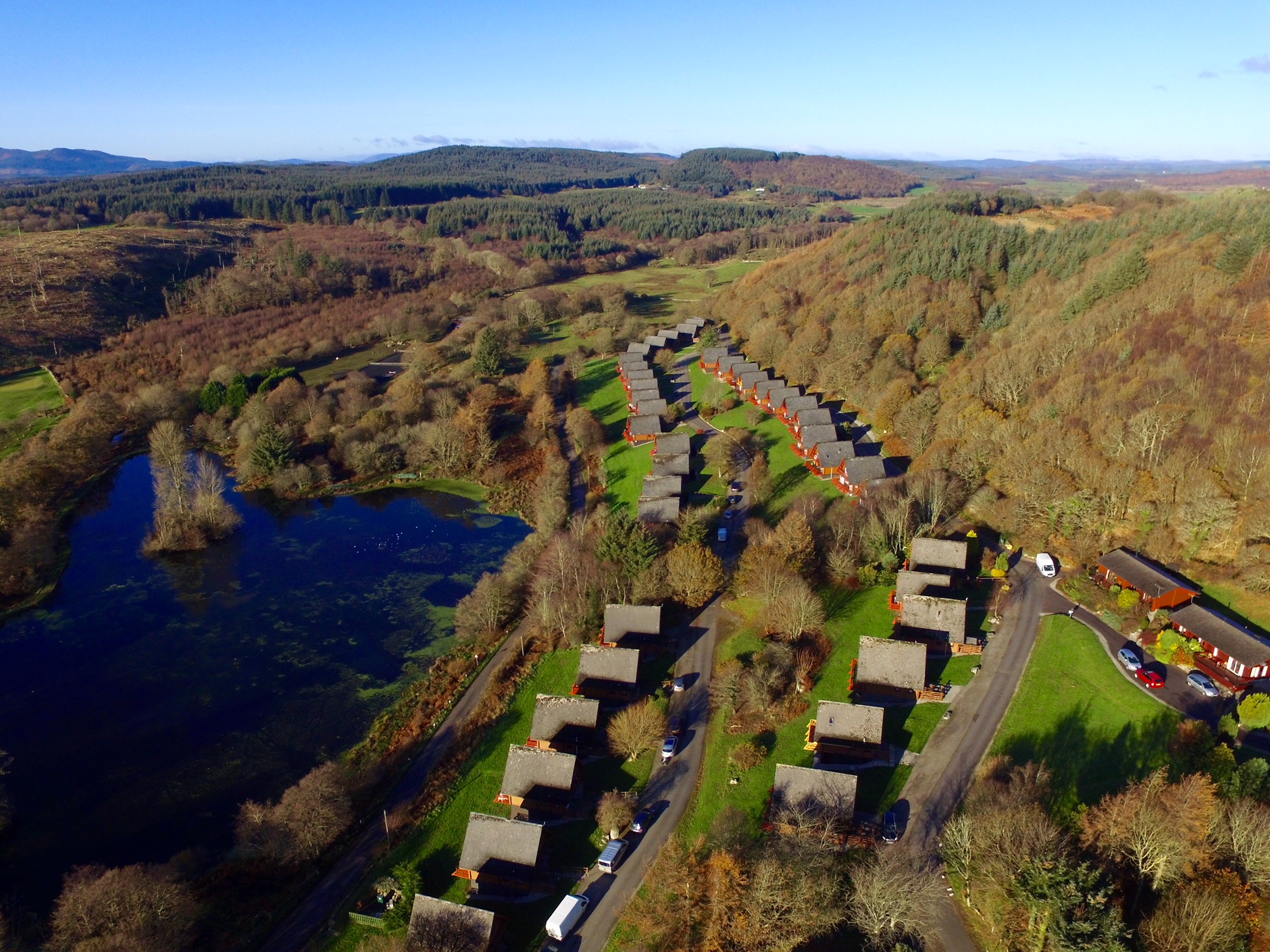 Aerial View of Barend Holiday Lodges