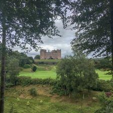 Drumlanrig Castle seen from the Gardens